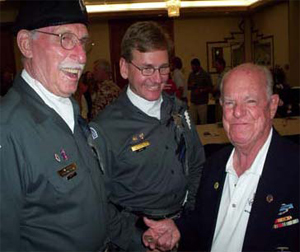 Dave Moore (left), Tim Kovacs (center) with Earl Clark (ret. Lt. Col.-10th Mtn.) sharing a lighter moment.